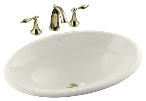 17 inch bathroom sink kohler centerpiece 25 inch l x 17 inch h self rimming