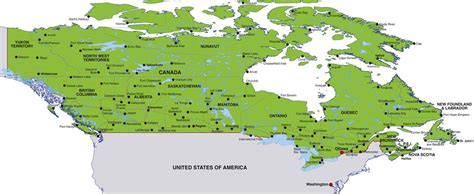 map of canada showing cities map of canada showing cities