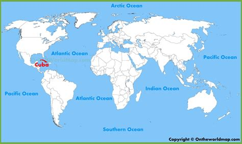 cuba on map of world cuba location on the world map