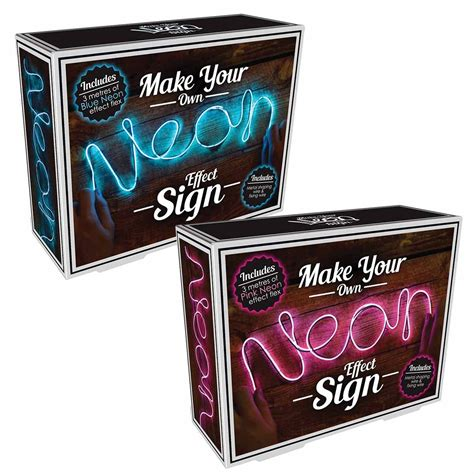 make your own light make your own neon sign the present finder