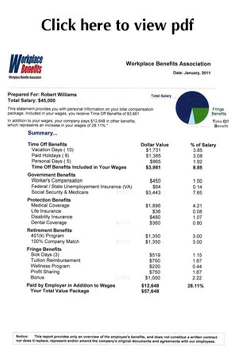Employee Benefit Statement Employee Benefits Package Template