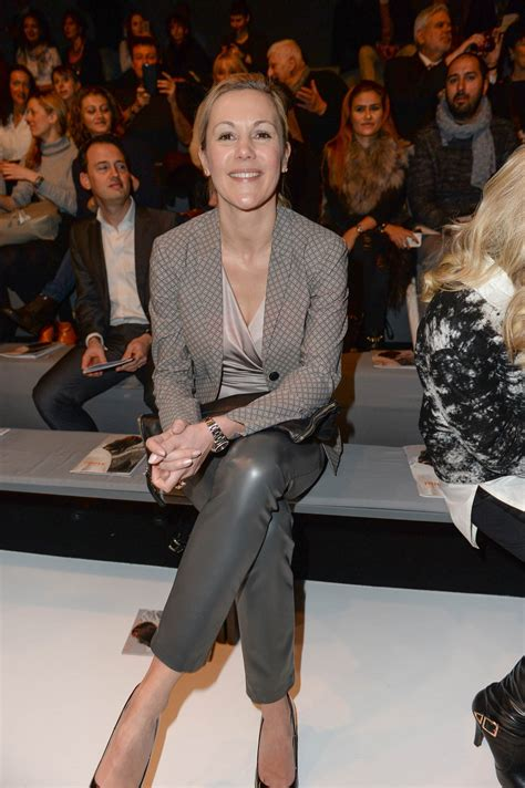 bettina wulff attends merceses benz fashion week leather