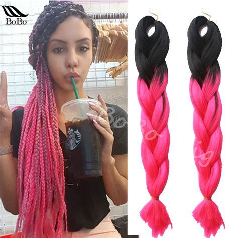 blonde pink black braids 16 how to ombre dye synthetic marley hair x pression