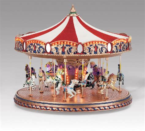 carousel music box mr christmas images