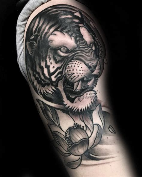 lotus flower tattoo upper arm 100 lotus flower tattoo designs for men cool ink ideas