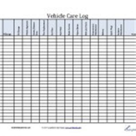 vehicle care log log printable form chart template