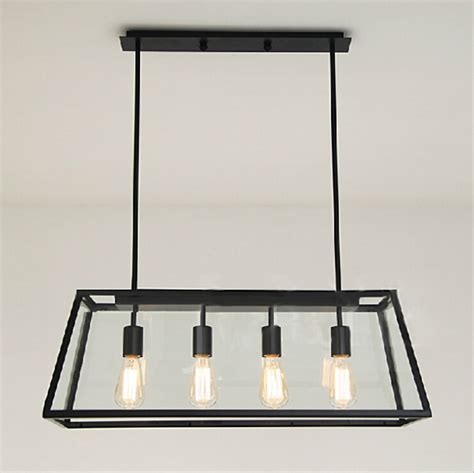 loft antique clear glass bell pendant lighting rectangle light fixture memory rectangular pendant light