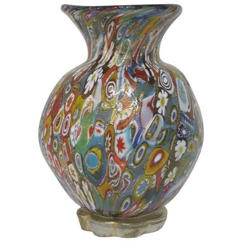 millefiori vase gambaro and poggi millefiori handblown murano glass vase