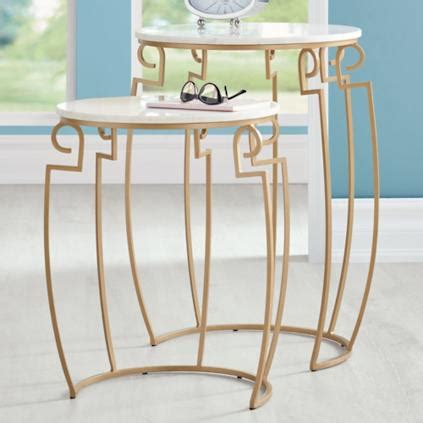 marble top nesting tables deco marble top nesting tables set of two grandin road