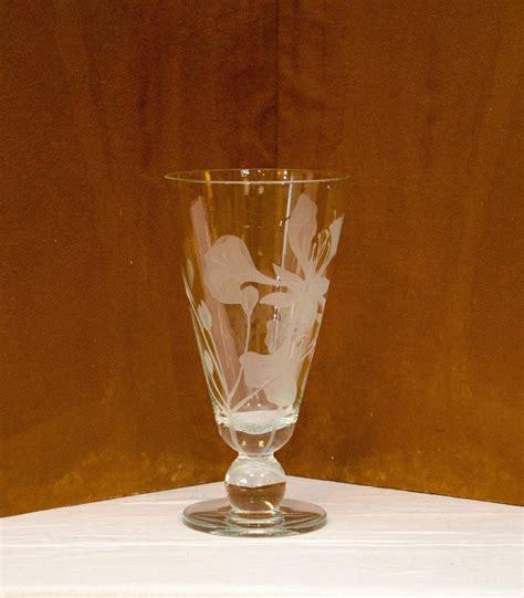 etched glass vase signed dorothy thorpe at 1stdibs