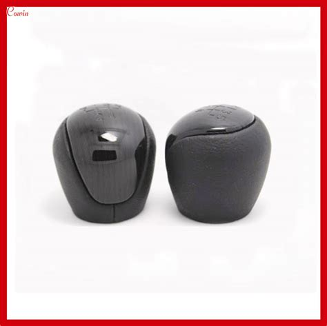 new black gray leather manual transmission gear shift knob