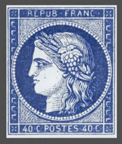 rare stamps ceres france's first stamp   world stamps