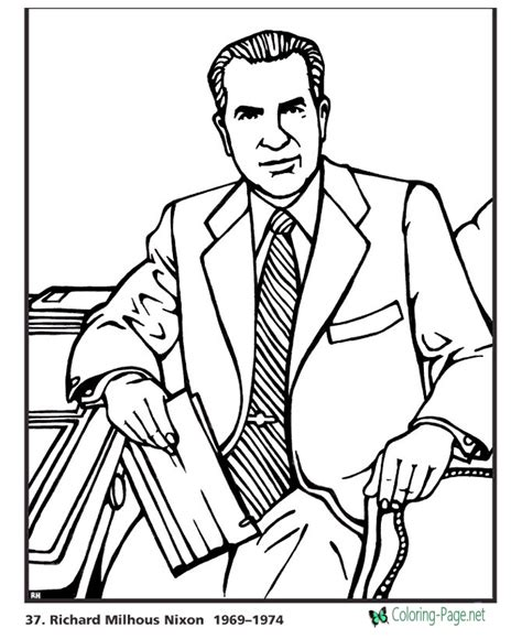 coloring pages of united states presidents us presidents coloring pages richard nixon