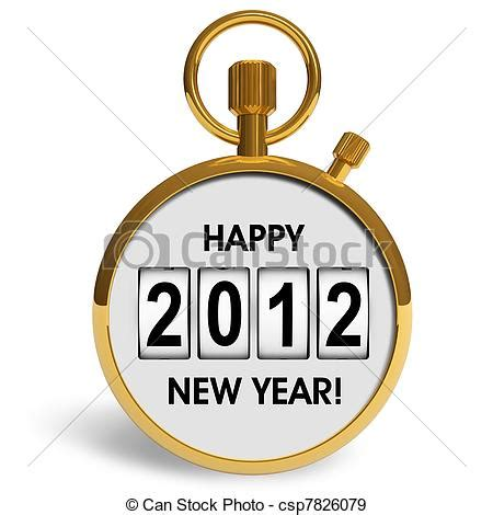 new year 2012 golden stock illustration of new year 2012 concept golden