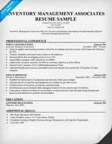 Inventory Manager Resume by Ii Inventory Management Associates Resume Template And Explanation Images Frompo