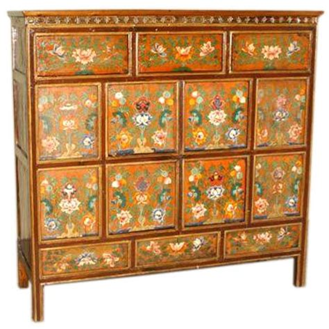 hand painted floral chest of drawers beautiful tibetan chest with hand painted floral motif at