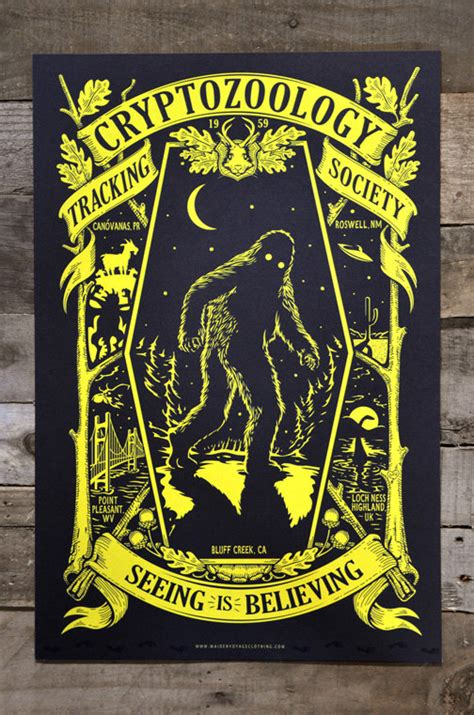 glow in the dark posters cryptozoology glow in the dark poster 12 x 18