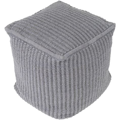 Gray Pouf Ottoman Artistic Weavers Riku Medium Gray Accent Pouf Ottoman S00161000644 The Home Depot