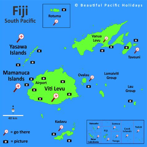 fiji islands map map of fiji in the south pacific islands