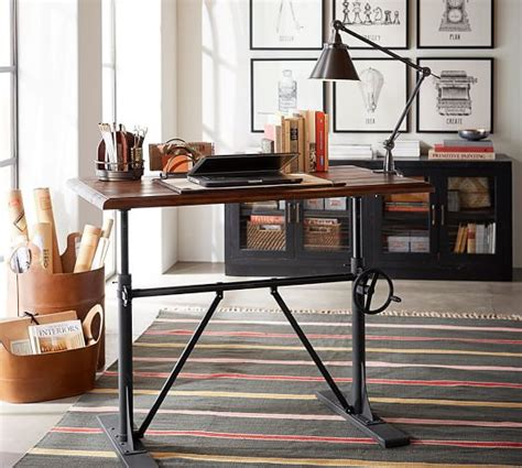 crank sit stand desk pittsburgh crank sit stand desk pottery barn