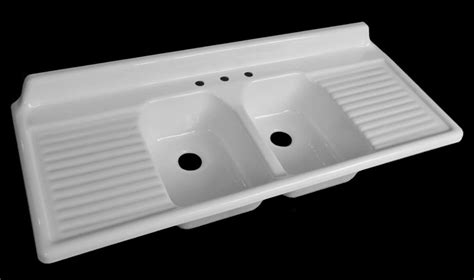 Kitchen Sink Drainboard Nbi Introduces Its Sixth Vintage Reproduction Kitchen Drainboard Sink 60 Quot Wide Retro Renovation