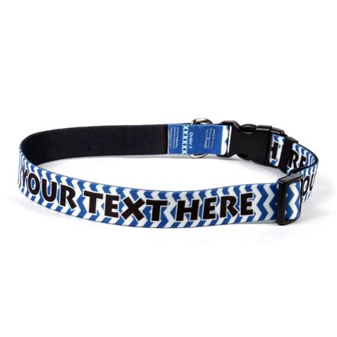 personalized puppy collars ydid custom name chevron blueberry collar