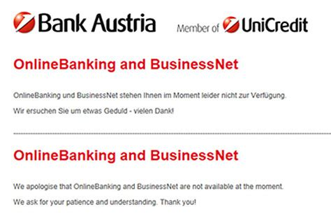 www bank austria at wieder ausfall des bank austria onlinebanking wien orf at