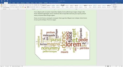 Create A Word Cloud In Microsoft Word Youtube How To Create A Template In Word