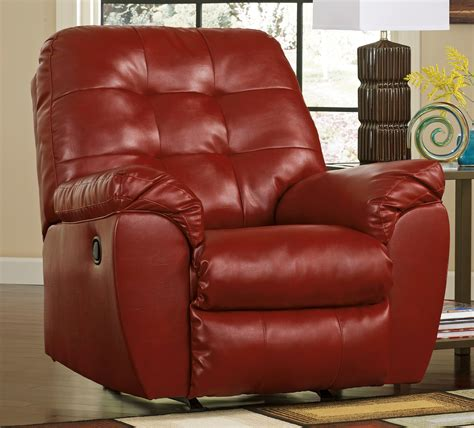 ashley durablend rocker recliner buy ashley furniture 2010025 alliston durablend salsa