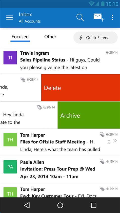 email app for android microsoft expands its email offerings on ios and android with new outlook app geekwire