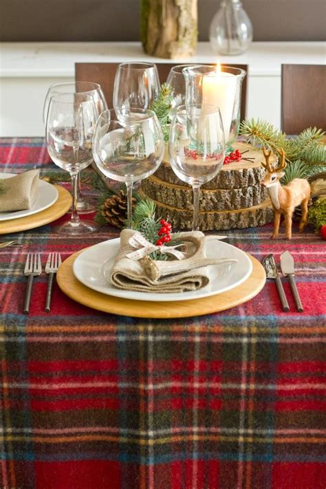 dinner table decorations dinner table decorations rustic checkered