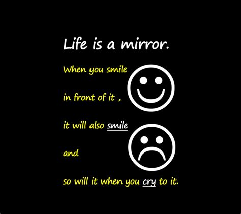 themes of quotes art quotes life is a mirror quote with emoticons picture