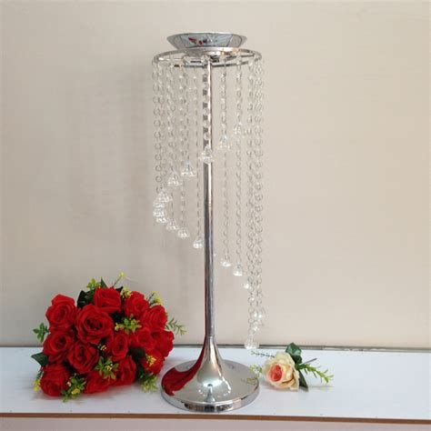 wedding table decoration/home crystal candle stand party