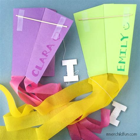 How To Make Simple Kite From Paper - how to make a simple kite inner child