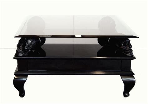 skull coffee table the quot black skull table quot johnbizas
