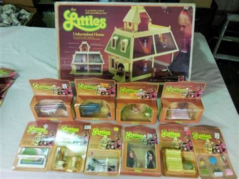 mattel doll houses mattel the littles dollhouse 10extras vintage rare all new in orig package