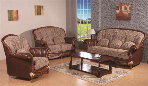 3 pc swank genuine leather fabric sofa set