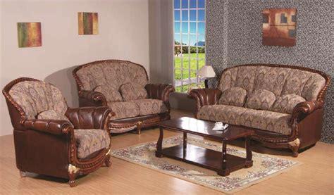 pc swank genuine leatherfabric sofa set