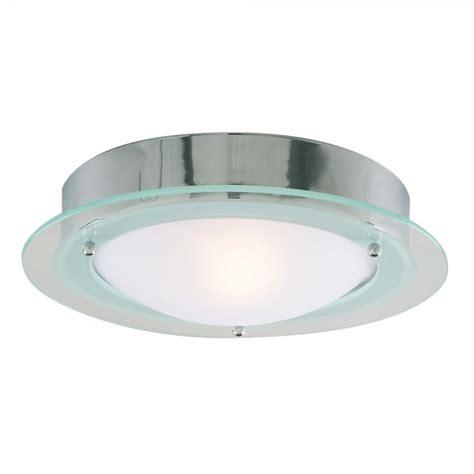 Flush Ceiling Lights For Bathroom Searchlight 3108cc Bathroom Lights 1 Light Polished Chrome Flush Ceiling Light