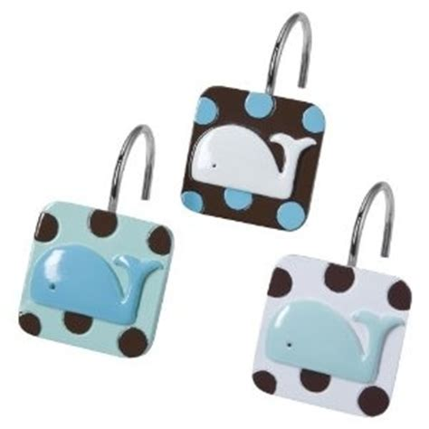 whale shower curtain hooks tiddliwinks whale shower curtain hooks a whale of
