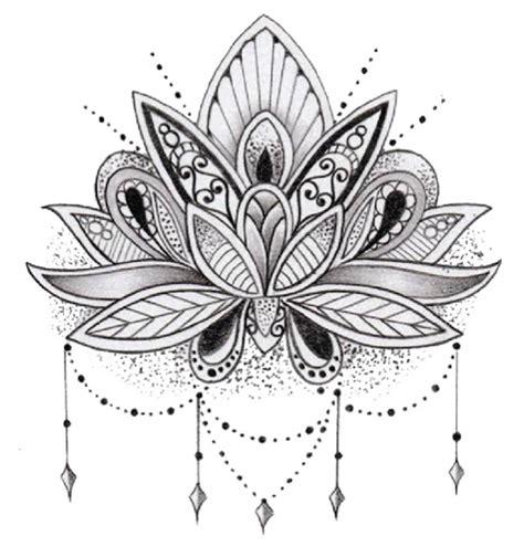 lotus tattoo zwart wit religieus spiritueel faketattoo nl