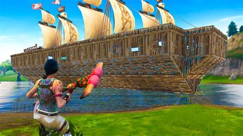 how to build a boat in fortnite building a legendary pirate ship on fortnite battle royale