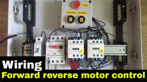 wire  reverse motor control youtube