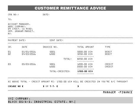 payment advice template top 5 free remittance templates word