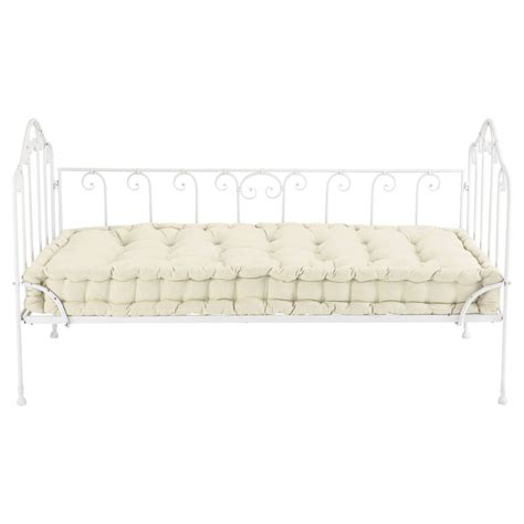 metal bench seat 2 seater cotton and metal bench seat in ivory capucine