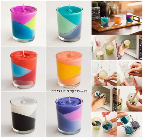 diy crafts with crayons how to make colour block crayons candles diy craft projects