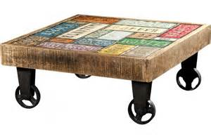 table basse carr 233 224 roulettes multicolore whelly design