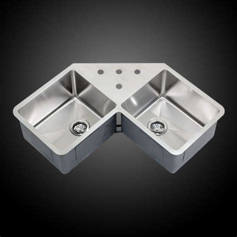 stainless corner sink ticor 36 quot undermount stainless steel double bowl corner butterfly kitchen sink butterflies