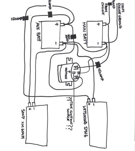 boat battery isolator wiring diagram boat wiring diagram