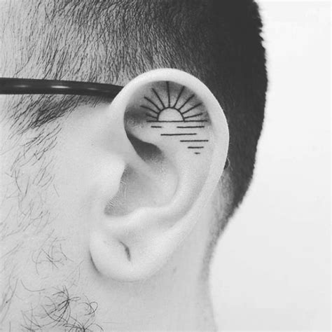 minimalist tattoo behind ear stunning tiny ear tattoos for the unconventional